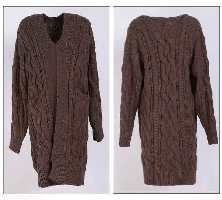 High-Quality Long Sweaters Ladies Stylish Womens Open Front Shrug Thick Cardigan