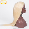 Glueless Front Lace Wig Blonde 613 Unprocessed Brazilian Virgin Human Hair 613 Lace Front Wigs with Baby Hair