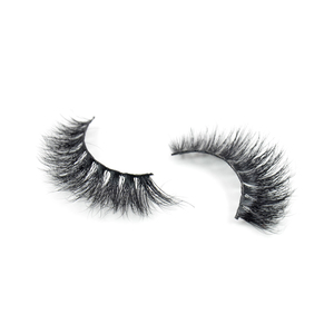 Private Label Natural Fur Premium Mink Lashes 3D Mink Eyelashes With Plastic Eyelash Trays custom logo lashes