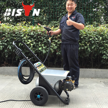 Bison China Taizhou Super High Pressure Car Cleaning Washer Electric Hi2500 Electric Three Phase Jet Power High Pressure Washer