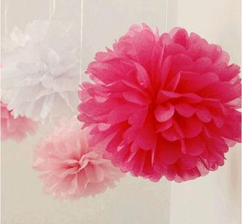 Wedding decoration light pink 12 pom poms tissue paper flower wedding decoration light pink 12 pom poms tissue paper flower balls mightylinksfo