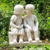 Polyresin garden cherubs angel statues for garden decoration