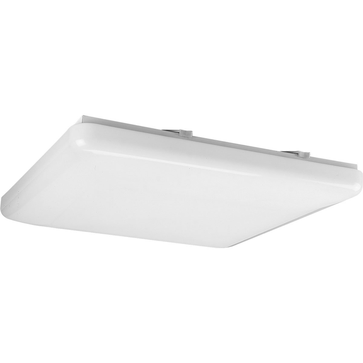 Progress Lighting P7380-30 Energy Efficient Long-Lasting Lamps with Acrylic Diffuser and Standard 120 Volt Normal Power Factor Ballasts That Can Be Wall Mounted UL Listed For Damp Locations, White