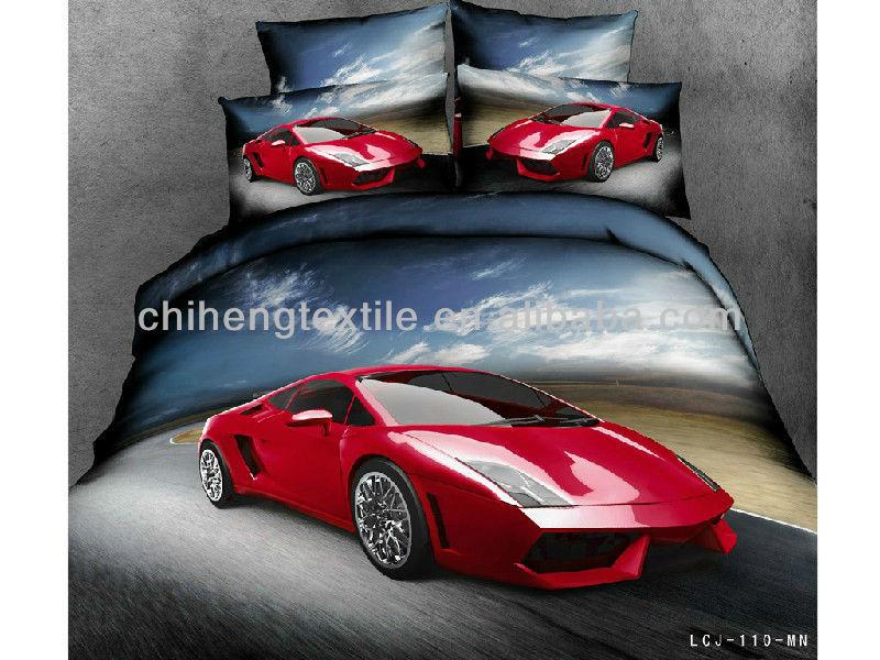 Luxe lamborghini voiture de sport 3d ensemble de literie - Housse de couette voiture de sport ...