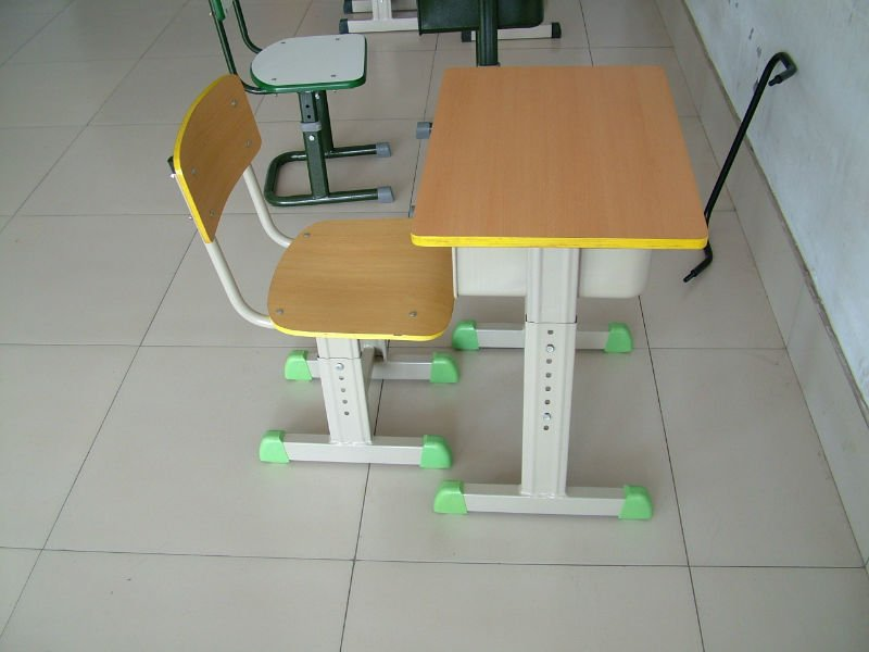 newly modern adjustable wood classroom single school desk and chair /school desk /school desk chair combo for students