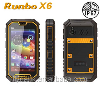 Runbo X6 VHF/UHF Walkie Talkie IP67 waterproof 4G LTE 2GB RAM mobile phone with WIFI GPS/GLONASS and NFC 4200mAh Big Battery