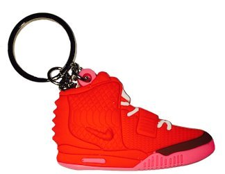 6def5b65df0 Get Quotations · Nike Red Pink Yeezy 2 2D Flat Sneaker Keychain