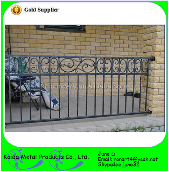 Home Garden Cast Iron Used Outdoor Handrails For Steps