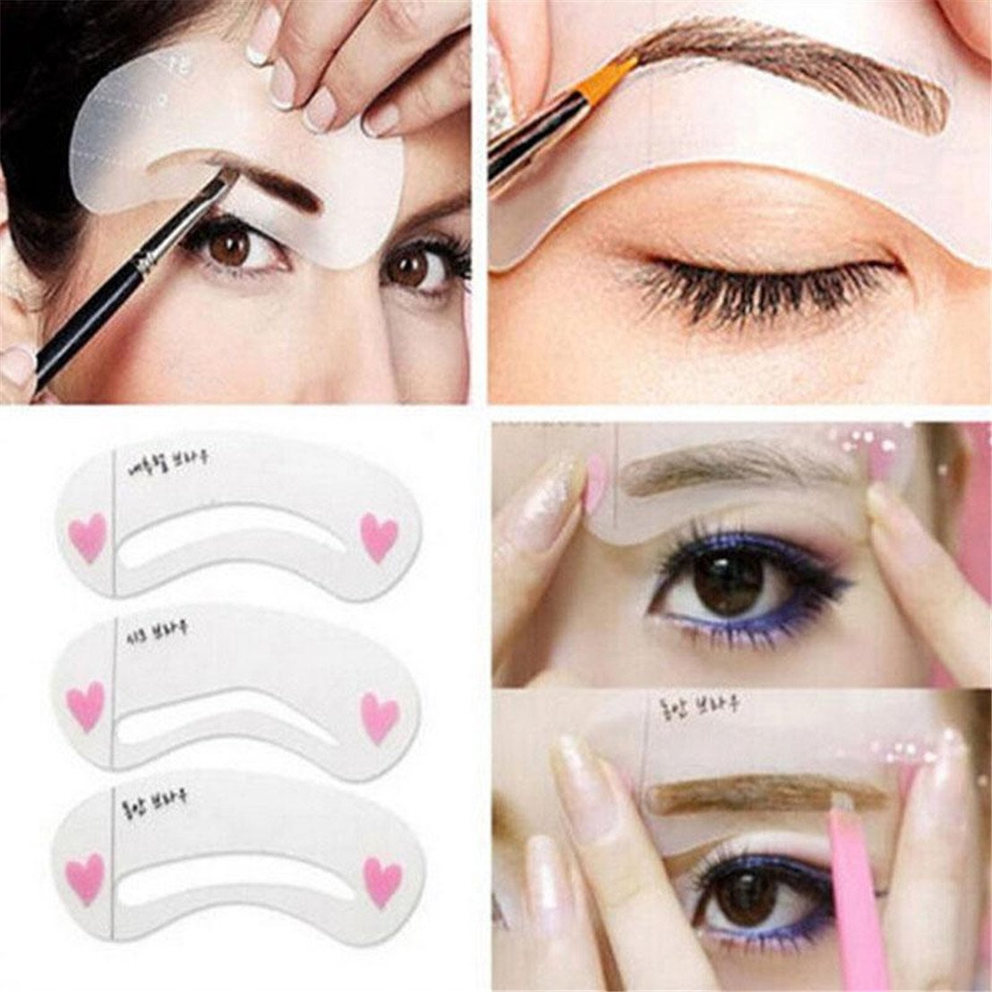Cheap Eye Brow Stencil Find Deals On Line At Eyebrow Template Get Quotations Guangqi Model Grooming Makeup Shaper Tool