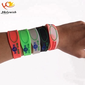 Recycled custom eco-friendly silicone wristband with debossed color logo