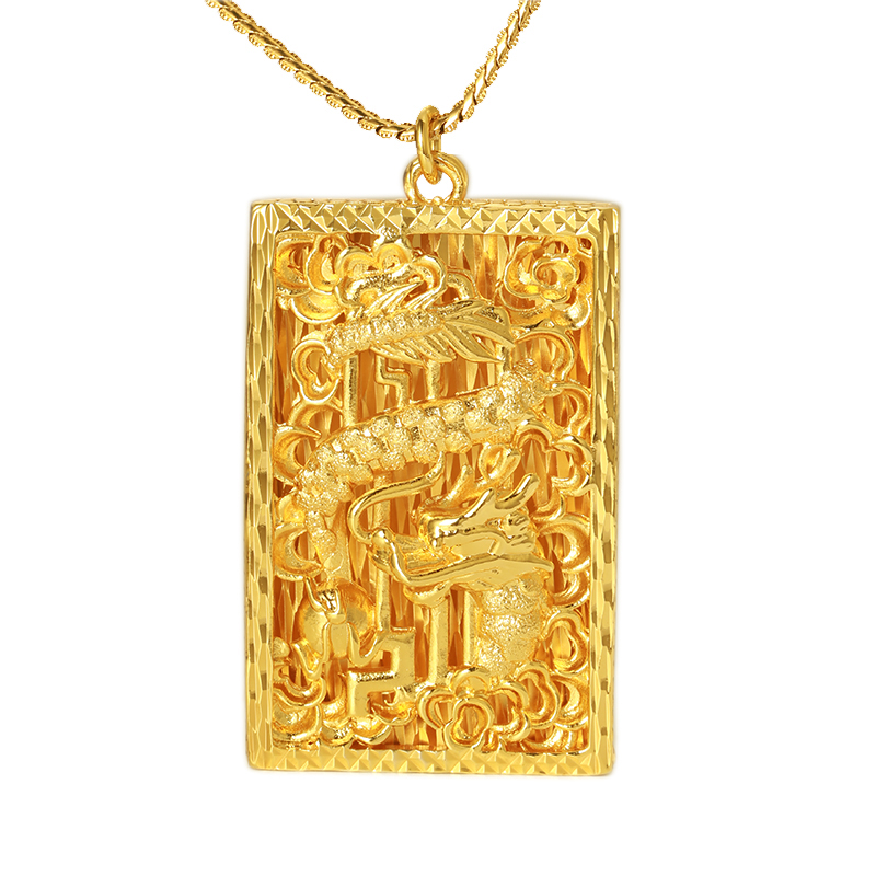 Xuping costume jewelry domineering dragon metal gold charms pendant for men фото