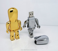 Promotion gift robot shape water proof usb flash drive 2G 64G customized logo memory stick