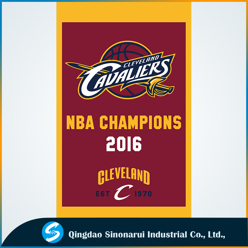 3x5ft polyester flags of Cleveland Cavaliers flag 2016 basketball champion