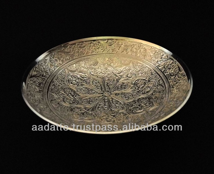 Kitchen accessory brass bowl beautiful decorative new design silver plated bowl