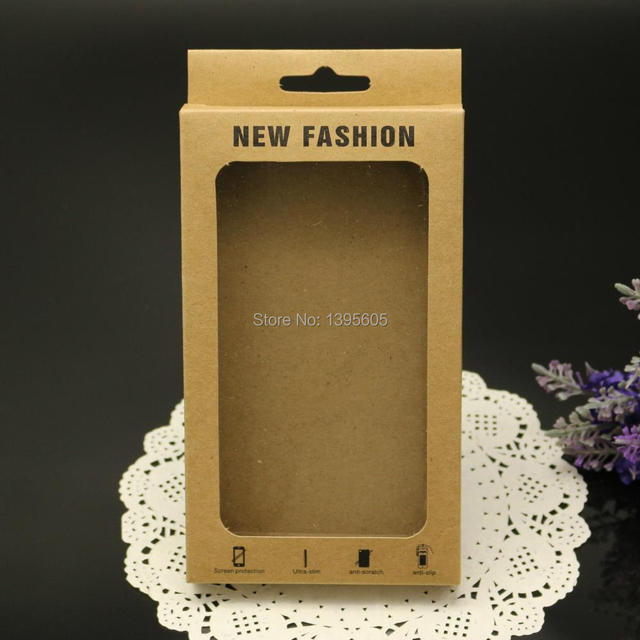 20 pe as kraft bo te de papier pour iphone 6 cas carton bo te d 39 emballage neutre papier. Black Bedroom Furniture Sets. Home Design Ideas