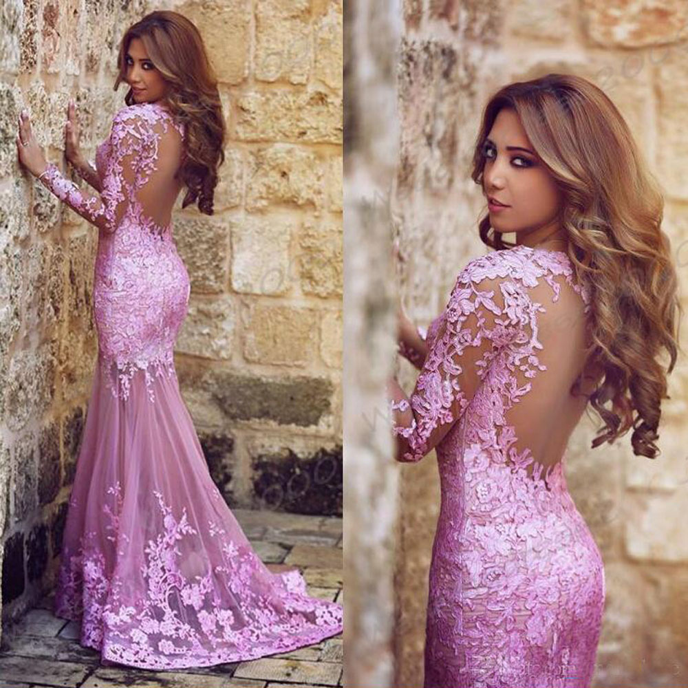 2016 New Lace Prom Dresses Sweetheart Neckline Backless