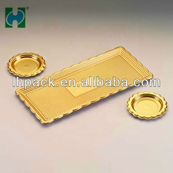 Factory Custom Made Golden Molding Carton Ps Food Plastic Trays For Food Packaging