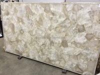 Crystal Quartz gemstone slab, tiles, table tops