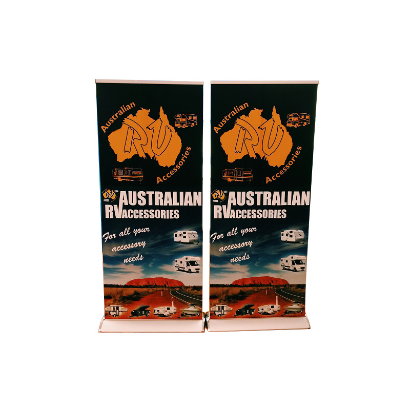 Easy Carry freestanding deluxe retractable pull up banner stands