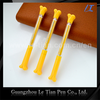 Wholesale bone shaped pen plastic banner pen for company adversiting