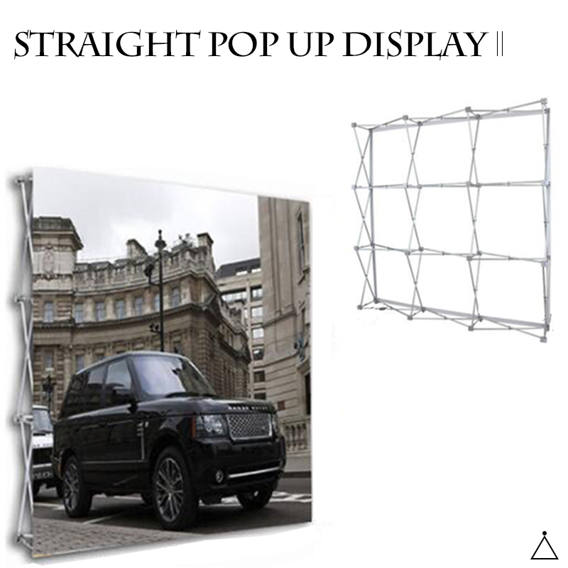 Top selling innovative straight pop up wall displays with sides
