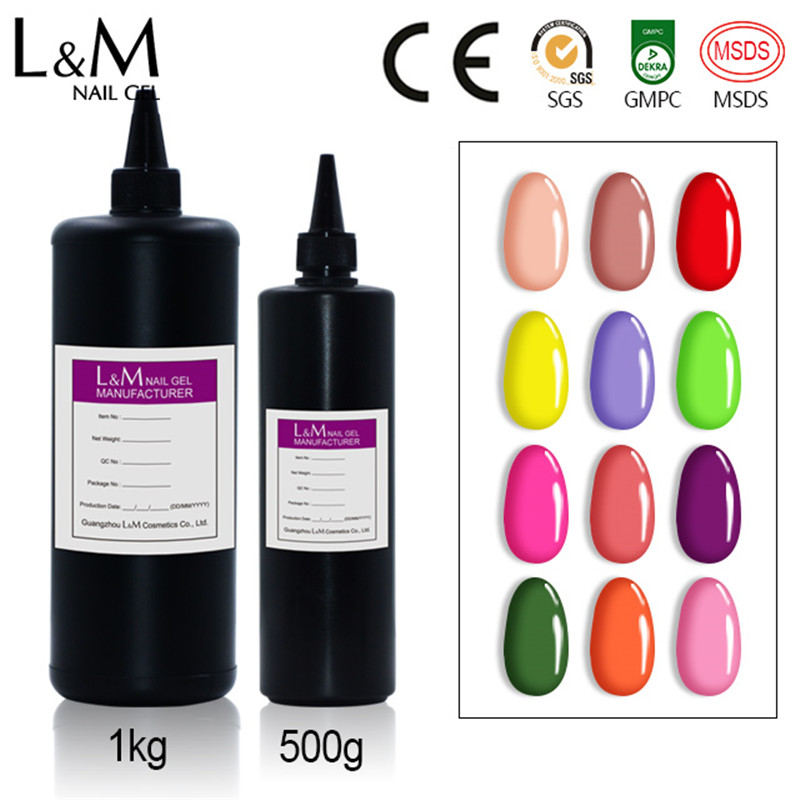 Professional OEM Private label cosmetics soak off uv acrylic gel nail polish, 610 colors