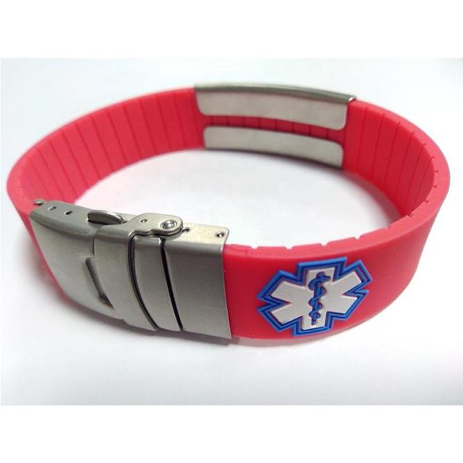 Wide Silicone Bracelet Bangles Silver Bracelet adjustable фото