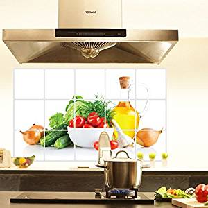 Bibitime Green Vegetables Kitchen Oil Proof Wall Stickers Cherry Tomatoes Cuber Onion Er Backsplash Tile Decor