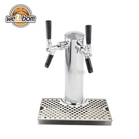 Double Tap Copper Stainless Steel Chrome Draft Beer Tower