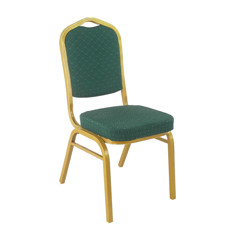 Wholesale china factory commercial chair Stacking banquet chair low price aluminum steel with soft seat cushions hotel chair
