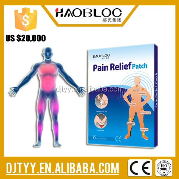 2015 New Product Private Label Pain Creams Pain Relief Patches