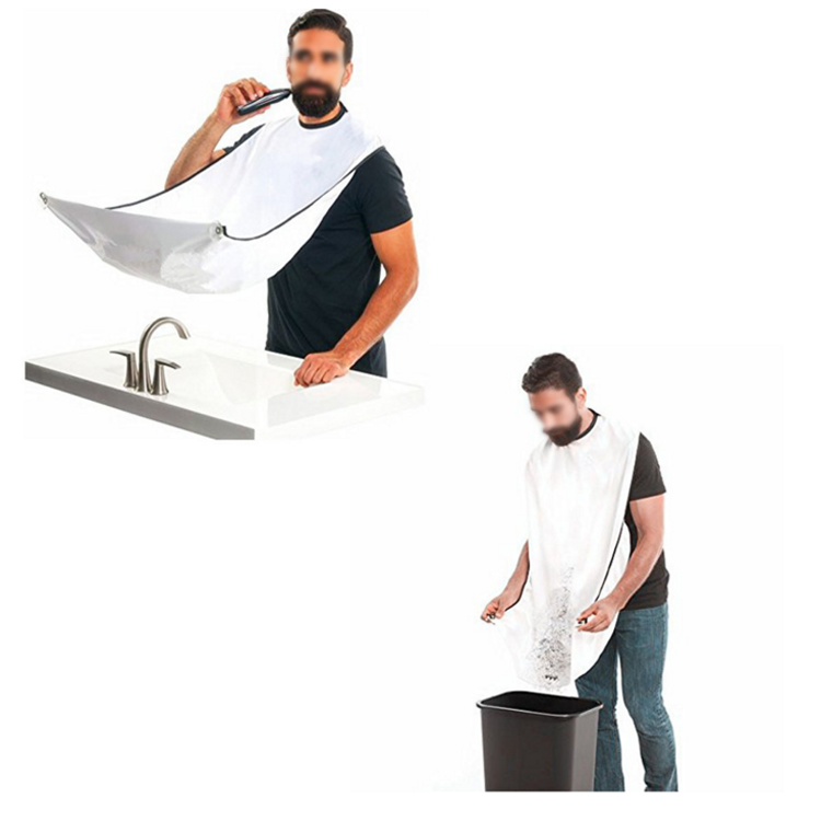 Best Gifts For Men Beard Shaving Apron Gather Cloth Bib with Two Suction Cups
