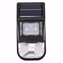 SOLAR POWERED PIR MOTION SENSOR LED WALL LIGHT OUTDOOR GARDEN SECURITY LAMP FOR WALKWAY, PATH & FRONT PORCH