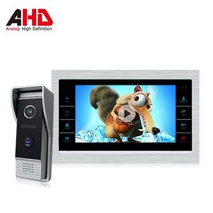 7 inch intercom with multi language and built-in motion detection video AHD video doorbell