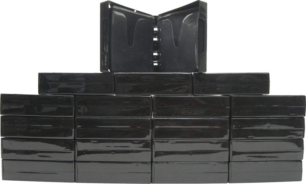 (20) Black 24-Disc Capacity CD DVD 2-Ring Album Wallet Book Storage CDBR4324BK (UniKeep Style) by Square Deal Recordings & Supplies