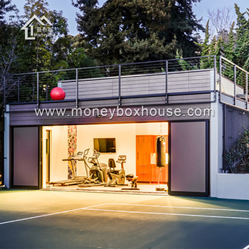 The moneybox personal outdoor prefab container gym for Cost of building a gym