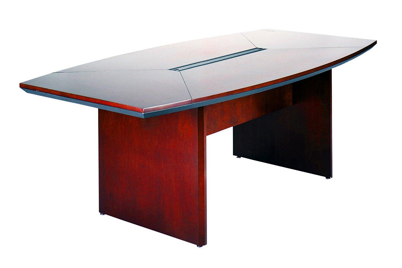 Buy Mayline CSII Boat Shaped Narrow Conference Table With - Narrow conference table