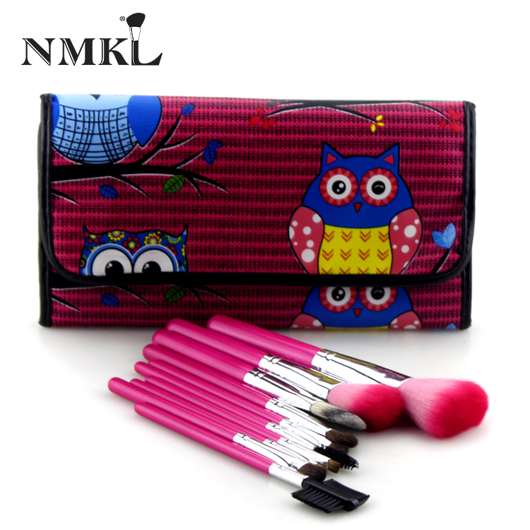 Factory Supply 10 Piece Makeup Brush Set Pink Color Handle Cosmetic Brush