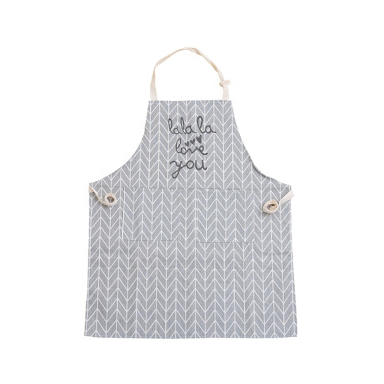 Lin serveuse en cuir denim cuisine tablier de cuisine pour homme