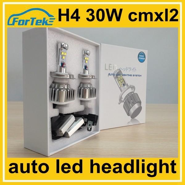 High Power Cree Led Bulb For Car Headlight H4 High Low Beam 30w ...