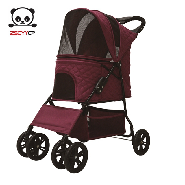 4 Wheels Stylish Dog and Cat Pet Stroller, Pet Carriage and Pet <strong>Gear</strong>