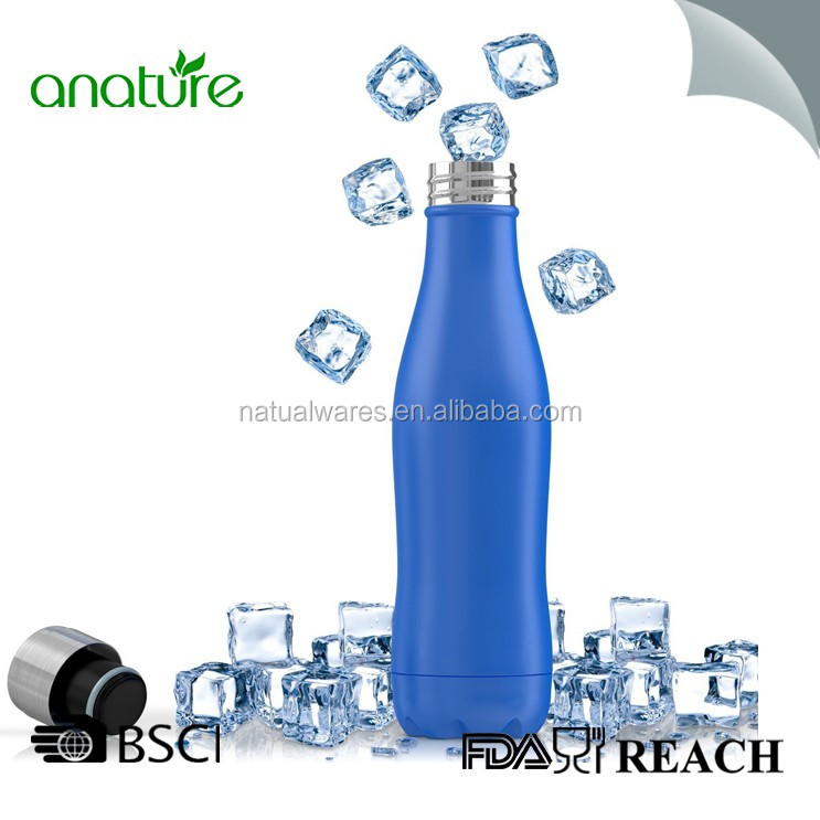 Vacuum Insulated Stainless Steel Double Wall Water Bottle-Leak Proof and Sweat Free 21oz/15oz Can Put Ice Cubes