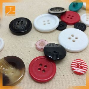 100 Pcs Red Dot 2 Holes Resin Buttons Fit Sewing Or Scrapbooking 15mm Dia.