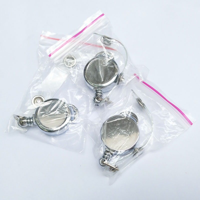 Stainless Steel YoYo ID Badge Holder with Belt Clip