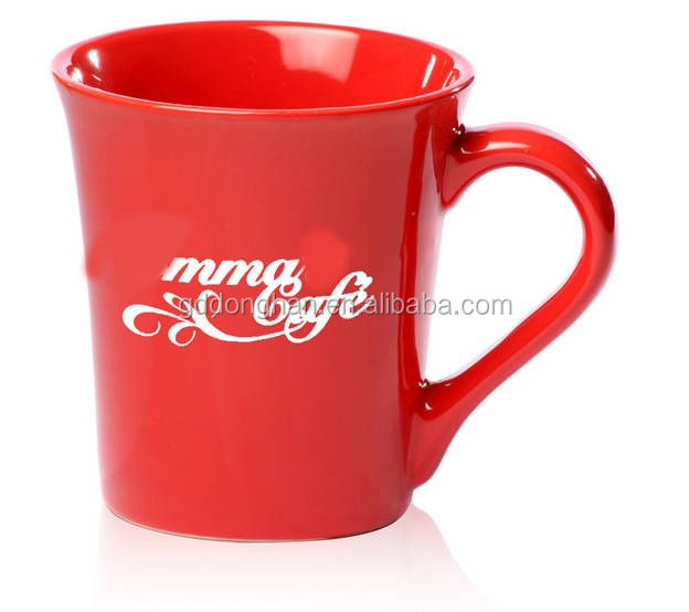 china wholesale factory direct promotional business gift item ecc ware ceramic printed red cup 16oz