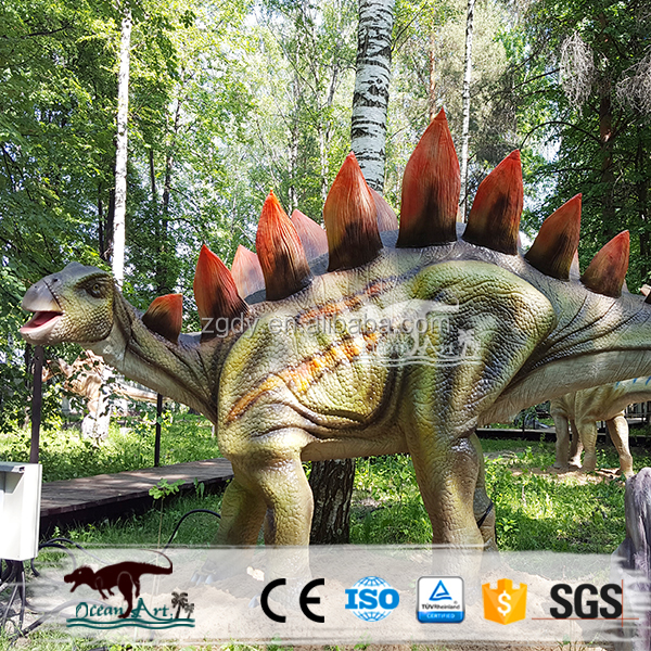 OAZ3051 Cetnology Silicone Rubber Moving Animated Stegosaurus Dinosaur for outdoor Decoration