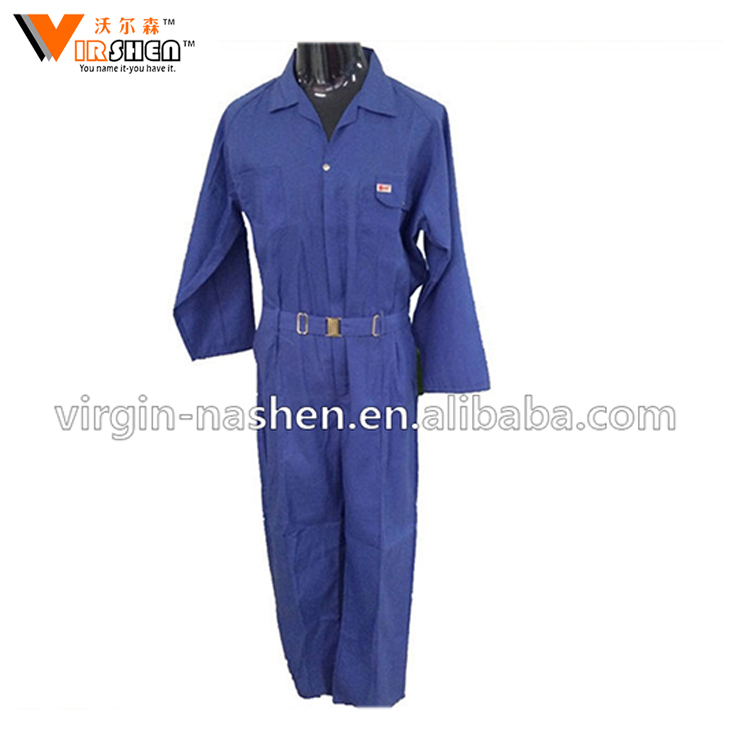 Factory flame retardant mens working uniforms coverall workwear