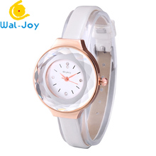 WJ-6649 Slim Leather Colorful Vogue Top Sale Quartz Lady Leisure Hand Watch