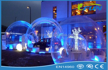 christmas/event inflatable bubble lodge/inflaable clear bubble tent/inflatable bubble house