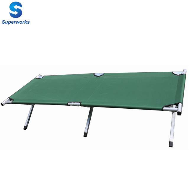 steel frame travel bed and durable military folding camp bed for adults and children